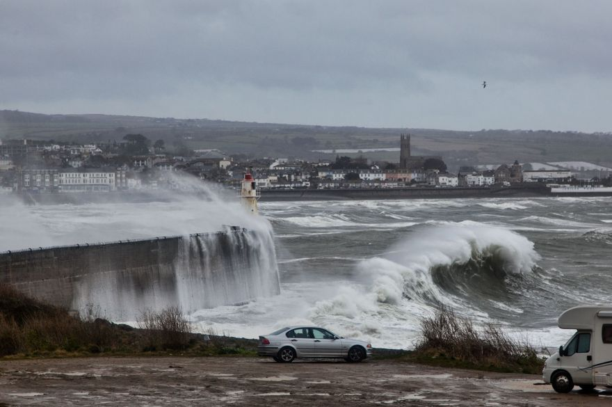 Stormy seas over Newlyn way