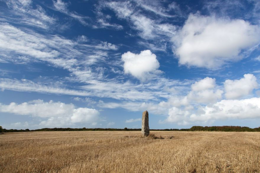 Summer skies over standing stone