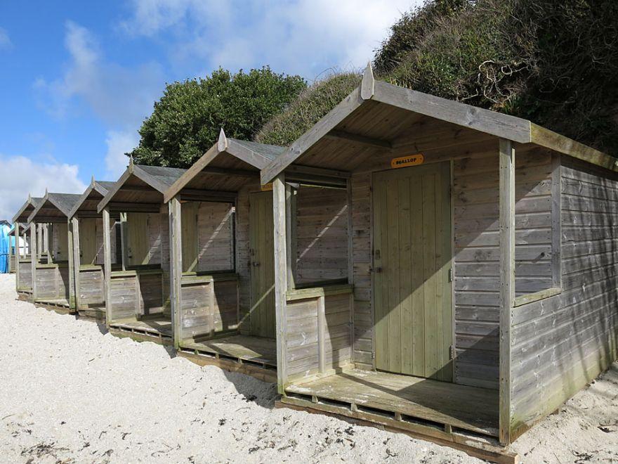 Swanpool beach huts