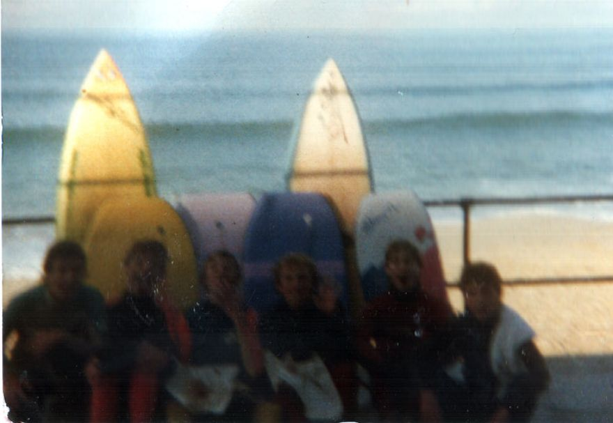 The Crew at Porthmeor - c1987