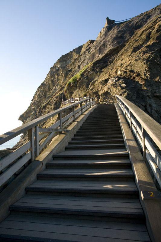 Steps to Tintagel Island