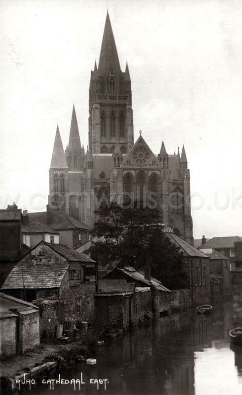 Truro River and Cathedral - 1900s