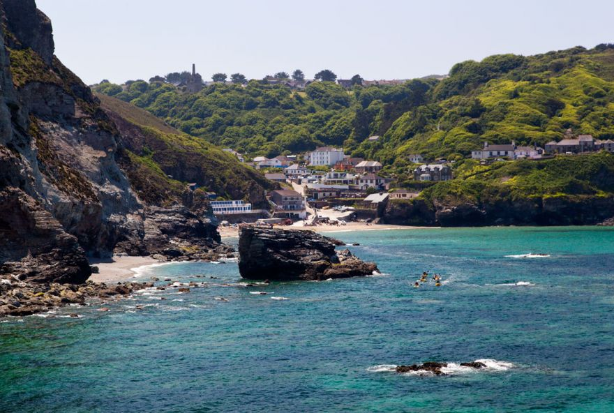 View to Trevaunance Cove, St Agnes