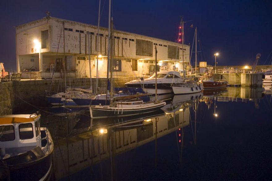 Penzance wet dock reflections