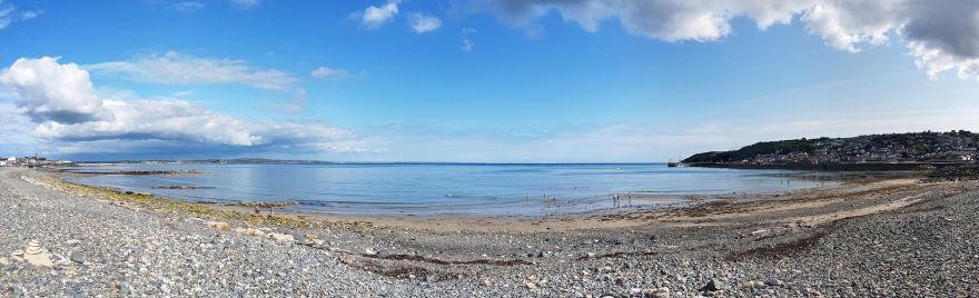 Wherrytown beach panorama - Penzance