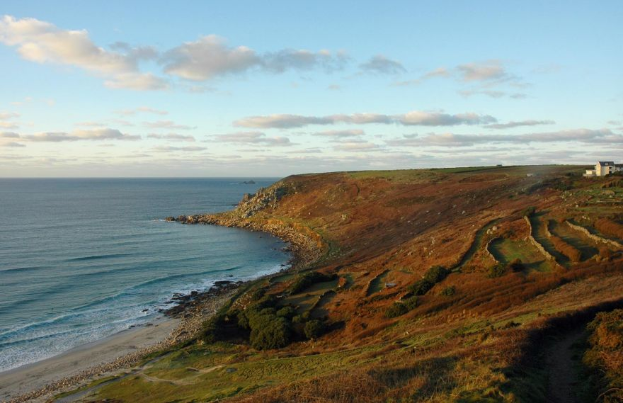 Gwenver Beach and Cliff - Winters Evening