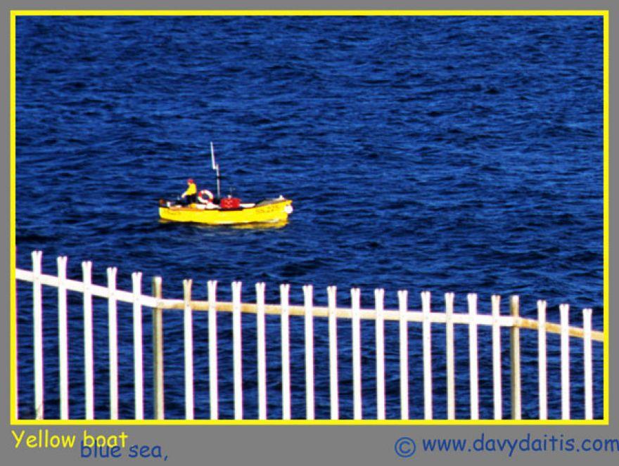 yellowboat blue sea