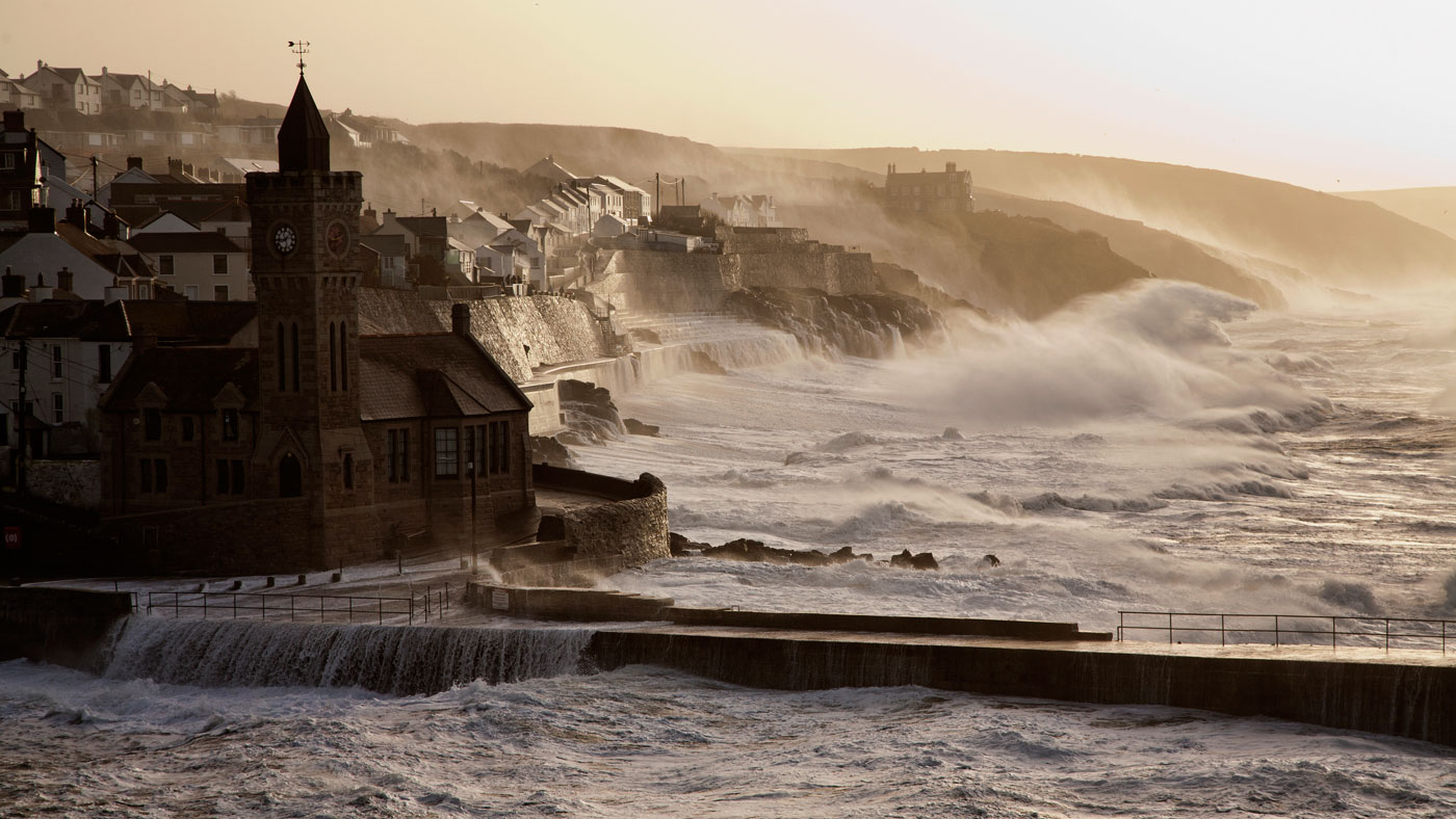 Porthleven Winter Storm January 2014 Cornwall Guide